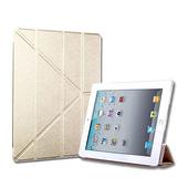 Apple iPad Pro 9.7吋 Y折式側翻皮套(金)(金色)