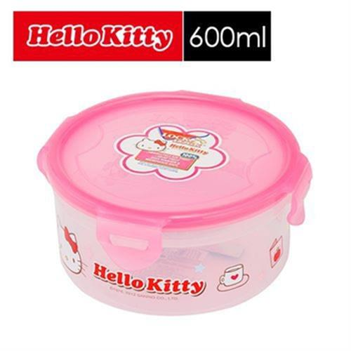 樂扣樂扣 HELLO KITTY PP保鮮盒600ML/圓型/B6C18-1A01-HPL933-KT(B6C18)