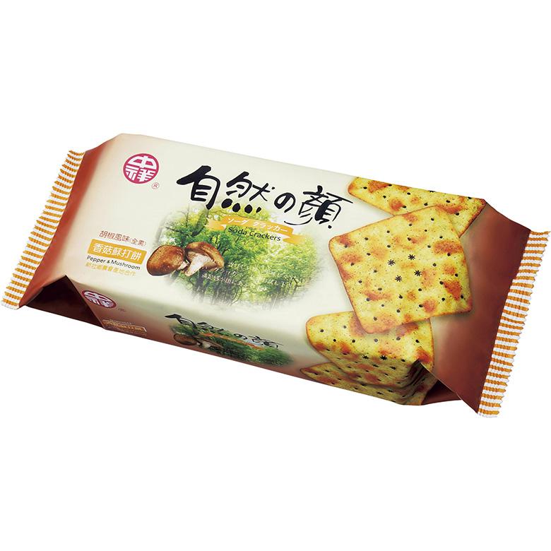 《中祥》自然之顏香菇蘇打餅(120g/包)