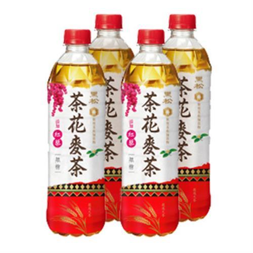 黑松 茶花麥茶(無糖)(580ml*4瓶)