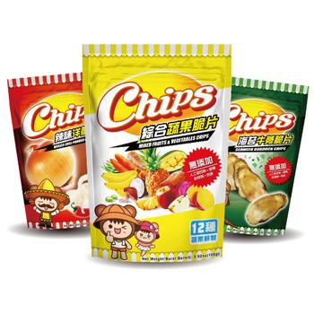 淘纖屋 chips脆片任選(蔬果/水果/蔬菜、原味/海苔/芥末牛蒡、原味/黑胡椒/辣味洋蔥)(12入)