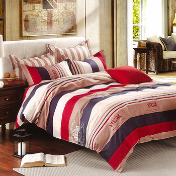 《Indian》卡羅 加大四件式純綿兩用被床包組(6*6.2)