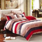 《Indian》卡羅 雙人四件式純綿兩用被床包組(5*6.2)