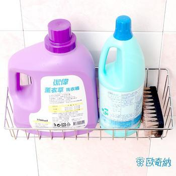 歐奇納 OHKINA 隨手貼系列 洗衣籃置物架組(方型勾2入)