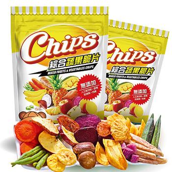 淘纖屋 chips 綜合蔬果脆片100g