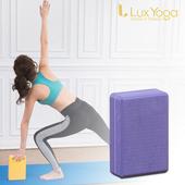 《Lux Yoga》瑜珈磚 紫花紋50D EVA 台灣製造
