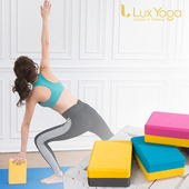 《Lux Yoga》瑜珈磚 雙色25D EVA 台灣製造(粉黃25D)
