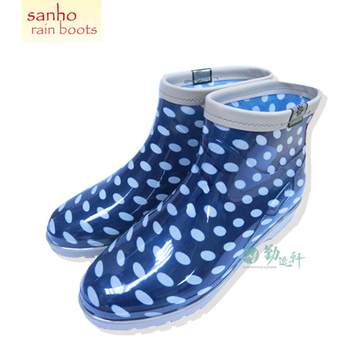 《SANHO》典雅百搭短雨鞋(藍色)(藍色8.5)