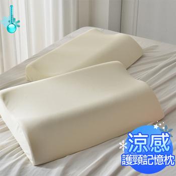 AmoreCasa 台灣製造 涼感護頸記憶枕(2入)