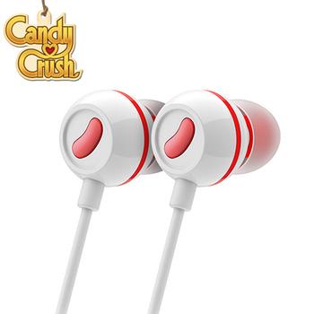 Candy Crush 糖果美眉 入耳式音樂耳機麥克風(草莓口味)