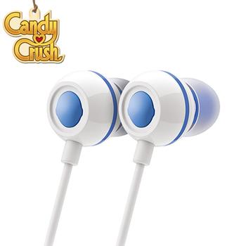 Candy Crush 糖果美眉 入耳式音樂耳機麥克風(藍莓口味)