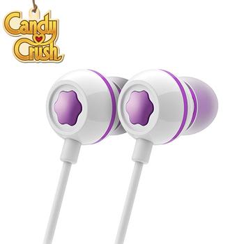 Candy Crush 糖果美眉 入耳式音樂耳機麥克風(葡萄口味)