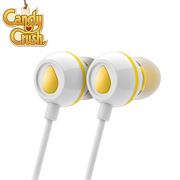Candy Crush 糖果美眉 入耳式音樂耳機麥克風(檸檬口味)