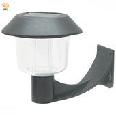 《月陽》彎月型太陽能燈充電自動光控LED庭園燈壁燈超值2入(5004C2)