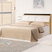 《Homelike》岱爾床台組-雙人加大6尺(不含床墊)(淺柚木色)