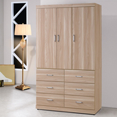 《Homelike》伊絲4X7衣櫃(原木色)