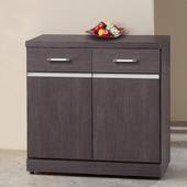 《Homelike》班德2.7尺收納餐櫃(胡桃木紋)