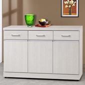 《Homelike》梅琳4尺收納餐櫃(白雪松)
