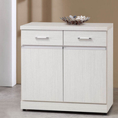 《Homelike》梅琳2.7尺收納餐櫃(白雪松)