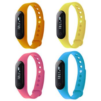 IS愛思 ME2H觸控心率藍牙智慧運動手環(加贈黑色錶帶)(橙色)