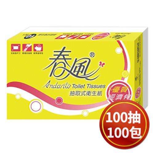 《春風》經濟包抽取衛生紙(小包型)(100抽*10包*10串)