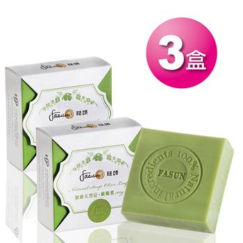 琺頌 FASUN 緊膚天然皂‧橄欖葉 110g (3入組)(110g)