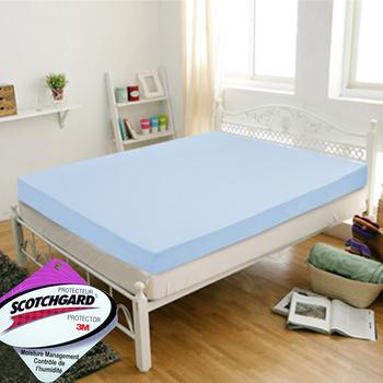 KOTAS 吸濕排汗完美比例10cm竹炭記憶雙人床墊(沁涼藍)