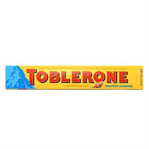 《TOBLERONE》瑞士三角脆杏仁巧克力(100g/盒)