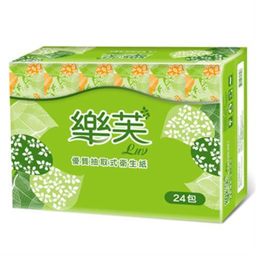 樂芙 抽取式衛生紙(100抽24包)
