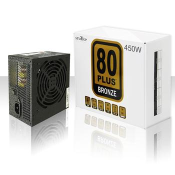 蛇吞象 電源供應器-80PLUS黑化系列 (銅牌/12CM靜音風扇/5年免費)(450W)