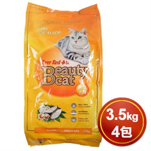 長紅 長紅貓食鱈魚干貝(3.5kg *4包)
