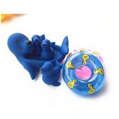 幼兒洗澡戲水動物親子組玩具(共三款 )(海獅泳圈)