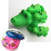幼兒洗澡戲水動物親子組玩具(共三款 )(鱷魚泳圈)