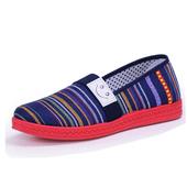 《Alice韓系館》【預購】繽粉舒適橫紋懶人鞋(藍36)