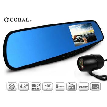 CORAL CORAL R2後視鏡型雙鏡頭雙錄影行車紀錄器