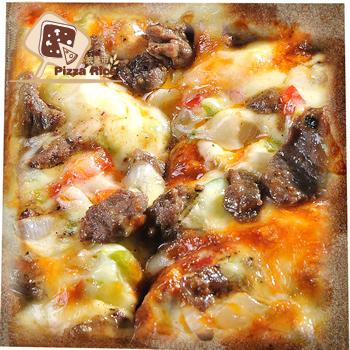 披薩市 5吋單人獨享-美式黑胡椒牛柳披薩口味(葷)(片)