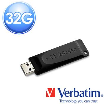 Verbatim 威寶 Slider 32GB 輕薄質感伸縮隨身碟(黑)