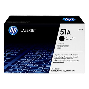 HP 原廠黑色碳粉匣 Q7551A 適用 LJ P3005/M3035mfp(Q7551A)