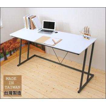 Ashley House 超值160公分Z型工作桌/電腦桌(附電線孔蓋)(白色)