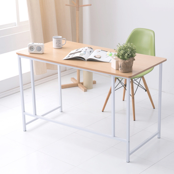Ashley House 經典120公分ㄇ型工作桌/電腦桌(附電線孔蓋)(原木)