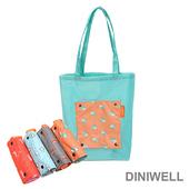 《韓版》DINIWELL卡通防水折疊收納手提袋(4色)(橘色松鼠)