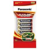 《Panasonic》大電流紅鹼電池4號12+2