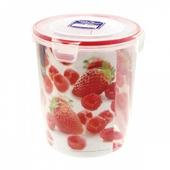《樂扣樂扣》P&Q圓型保鮮盒2.2L紅蓋(NLP322)