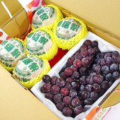 《鮮果日誌》清涼健康禮盒組(東勢台灣梨5入+巨峰葡萄2.5台斤)