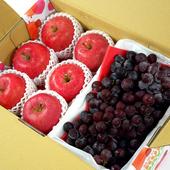 《鮮果日誌》王牌健康禮盒(智利富士蘋果6入+巨峰葡萄2.5台斤)
