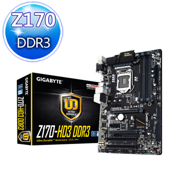 GIGABYTE技嘉 GA-Z170-HD3 DDR3 主機板