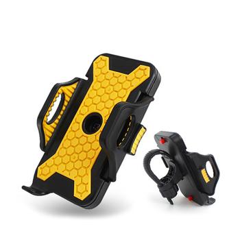 Sense神速 大黃蜂自行車/機車手機支架 通用車架(黃色)