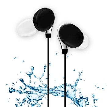 活力揚邑 IPX4防水重低音立體聲可調音管後掛入耳式3.5mm通用運動耳機(個性黑)