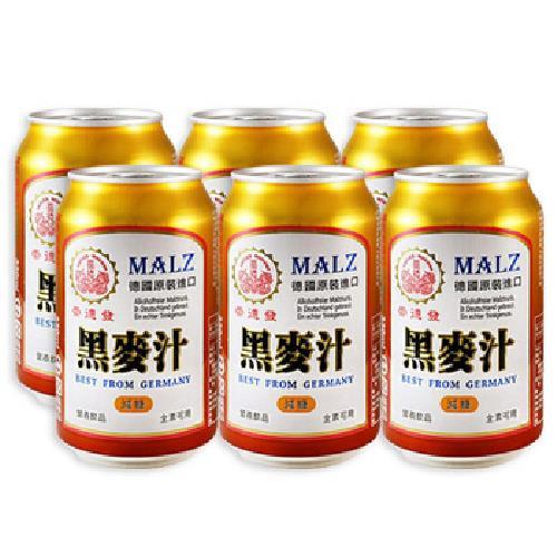 崇德發 黑麥汁易開罐(減糖)(330ML*6)