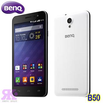 BenQ B50 5吋LTE智慧型手機-贈保貼+8G記憶卡+手機/平板支架+彩色傳輸線+韓版可愛收納包(天使白)